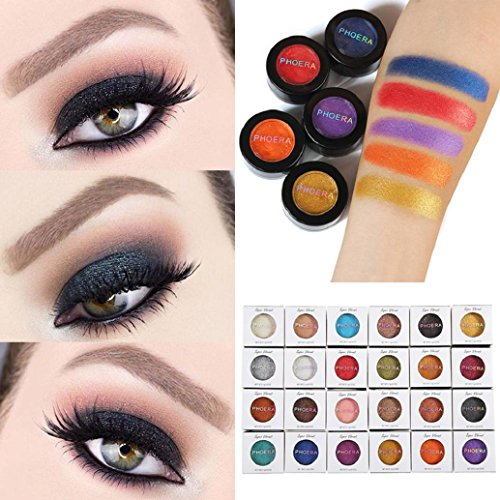 AMA(TM) 24 Colors Glitter Shimmer Eyeshadow Powder Metallic Smoky Eyeshadow Palette