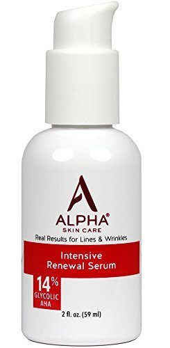 Alpha Skin Care Intensive Renewal Serum 14 Glycolic AHA Real Results For Lines And Wrinkles Fragrance Free And Paraben Free 2 Ounce 0 0