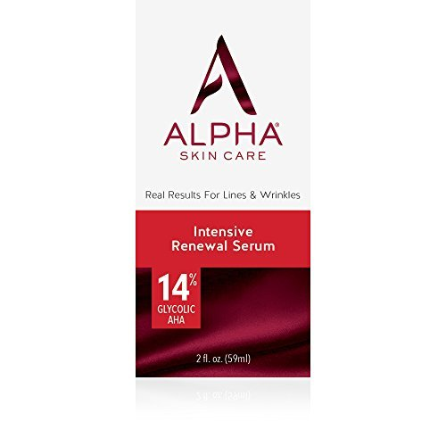 Alpha Skin Care Intensive Renewal Serum 14 Glycolic AHA Real Results For Lines And Wrinkles Fragrance Free And Paraben Free 2 Ounce 0 8
