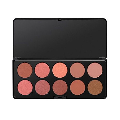 BH Cosmetics Nude Blush 10 Color Blush Palette, 0.43 Pound