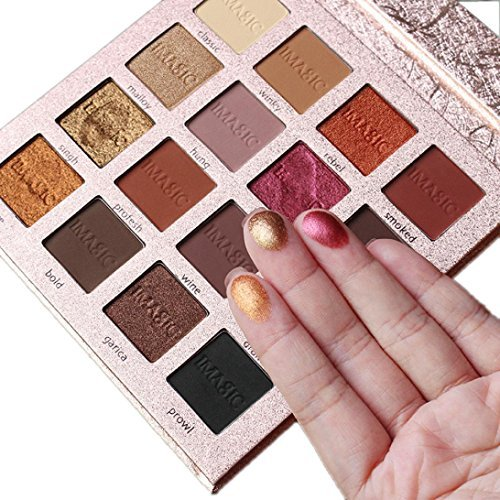 Best Pro Eyeshadow Palette Makeup – Matte + Shimmer 16 Colors – High Pigmented – Professional Vegan Nudes Warm Natural Bronze Neutral Smokey Cosmetic Eye Shadows