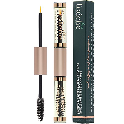 f92cbe7e133 USDA Organic Castor Oil for Eyelashes and Eyebrows – Cold Pressed Castor  Oil Eyelash Growth Serum ...