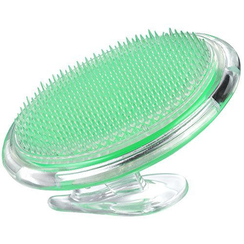 Coolife Ingrown Hair And Razor Bumps Treatment, Exfoliator Face Brush Fascia And Cellulite Blaster Acupressure Therapy Myofascial Release Tool Body Massager Brush For Men And Women – Green