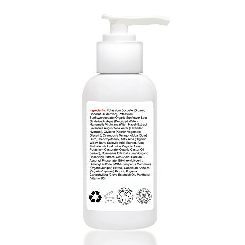 DETOXIFYING ACNE CLEANSER By Nieuw Beauty Sulfate Free Acne And Anti Blemish Face And Body Wash For Women Men And Teens Natural Salicylic Acid Clove Oil And Vitamin C 4oz120ml 0 1
