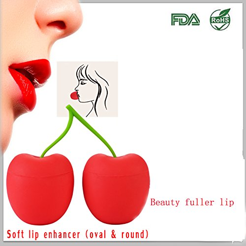 Full Best Lip Plumper Device Enhancer Mouth Lip Bigger Beauty Lip Plumping Enhancers, Pump Device Quick Fuller Lips Plumper,including Oval & Round Soft Silicone