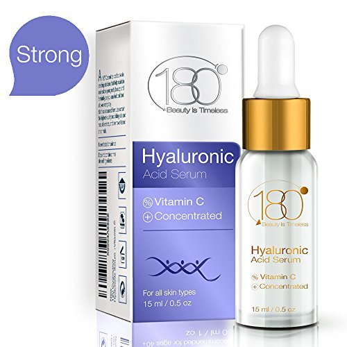 Hyaluronic Acid Vitamin C Facial Serum Strong- 180 Cosmetics – Face Lift Skin Serum For Face And Eyes – Pure Hyaluronic Acid For Immediate Results – Hydrating – Anti Aging – Wrinkles And Fine Lines