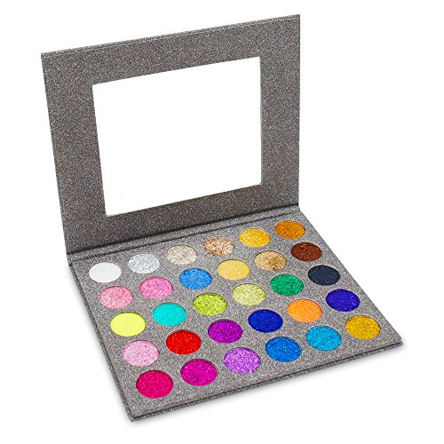 MISKOS Glitter Eyeshadow Pallet 30 Colors Highly Pigmented Mineral Foiled Long-Lating Shimmer Powder Eye Shadow Palette Waterproof Makeup Kit