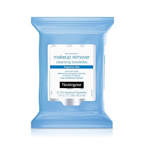 Neutrogena Cleansing Makeup Remover Facial Wipes, Waterproof Mascara Remover Refill Pack