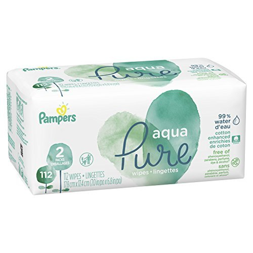 Pampers Aqua Pure Pop Top Sensitive Water Baby Wipes 0
