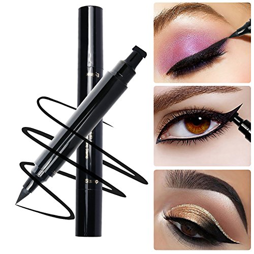 PrettyDiva 3D Eye Rock Crystal Eye Tattoos Cat Eye Winged Temporary Eye Shadow Makeup Diamond -6 Packs